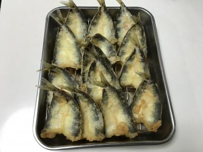 ウルメイワシの天ぷら