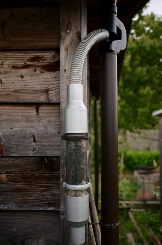 雨水集水フィルターメンテナンス