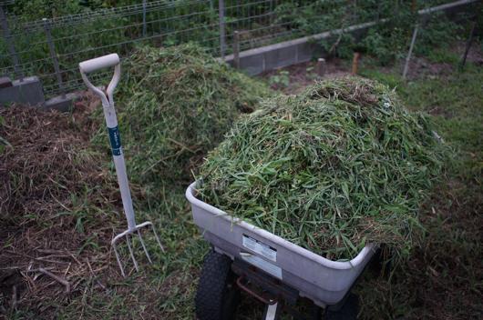 草刈り+雑草堆肥