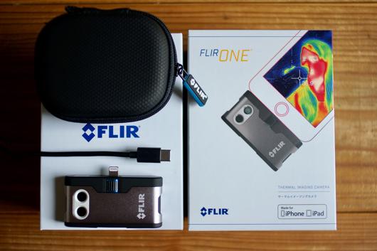 サーモカメラ Flir One for iPhone パッケージ
