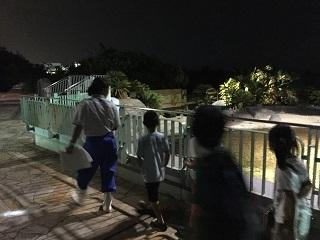 水族館お泊まり夜の探検