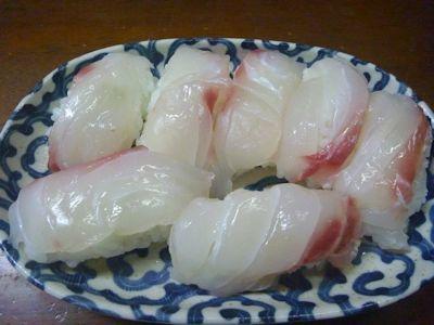 二回目の鯛寿司