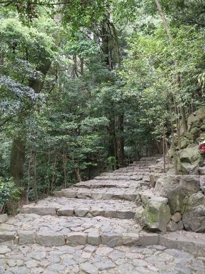 立木観音・奥之院への石段