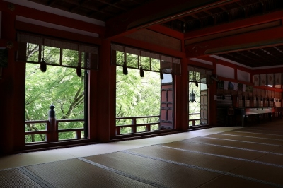 談山神社・拝殿内