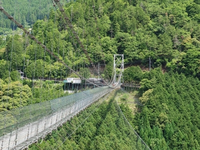 谷瀬の吊り橋3