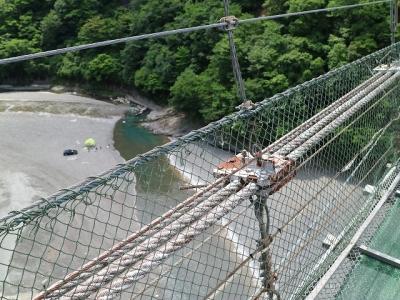 谷瀬の吊り橋8