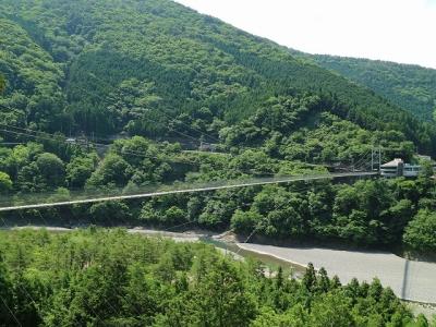 谷瀬の吊り橋11