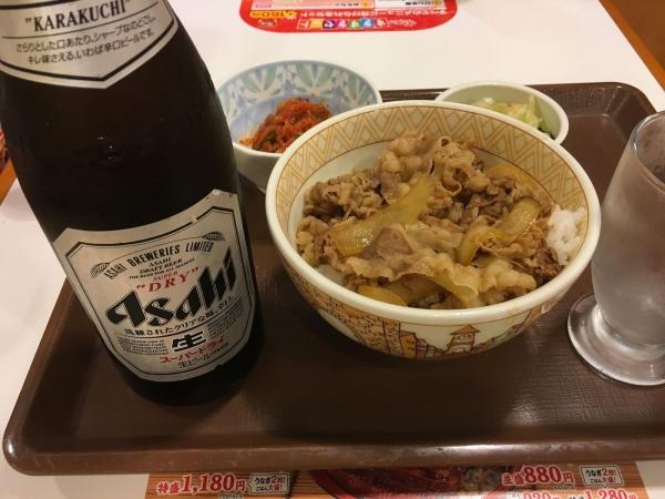 2017-06-24 牛丼ビール
