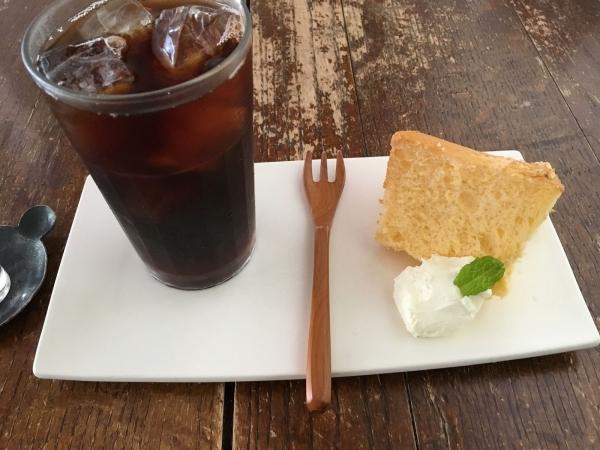 2017-09-05 コーヒーとシフォンケーキ