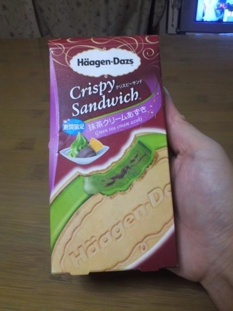 ハーゲンダッツ クリスピーサンド 期間限定 抹茶クリームあずき