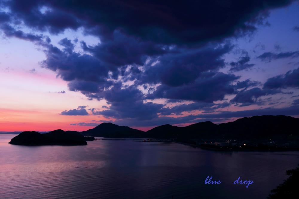 青い雲の夕暮れ