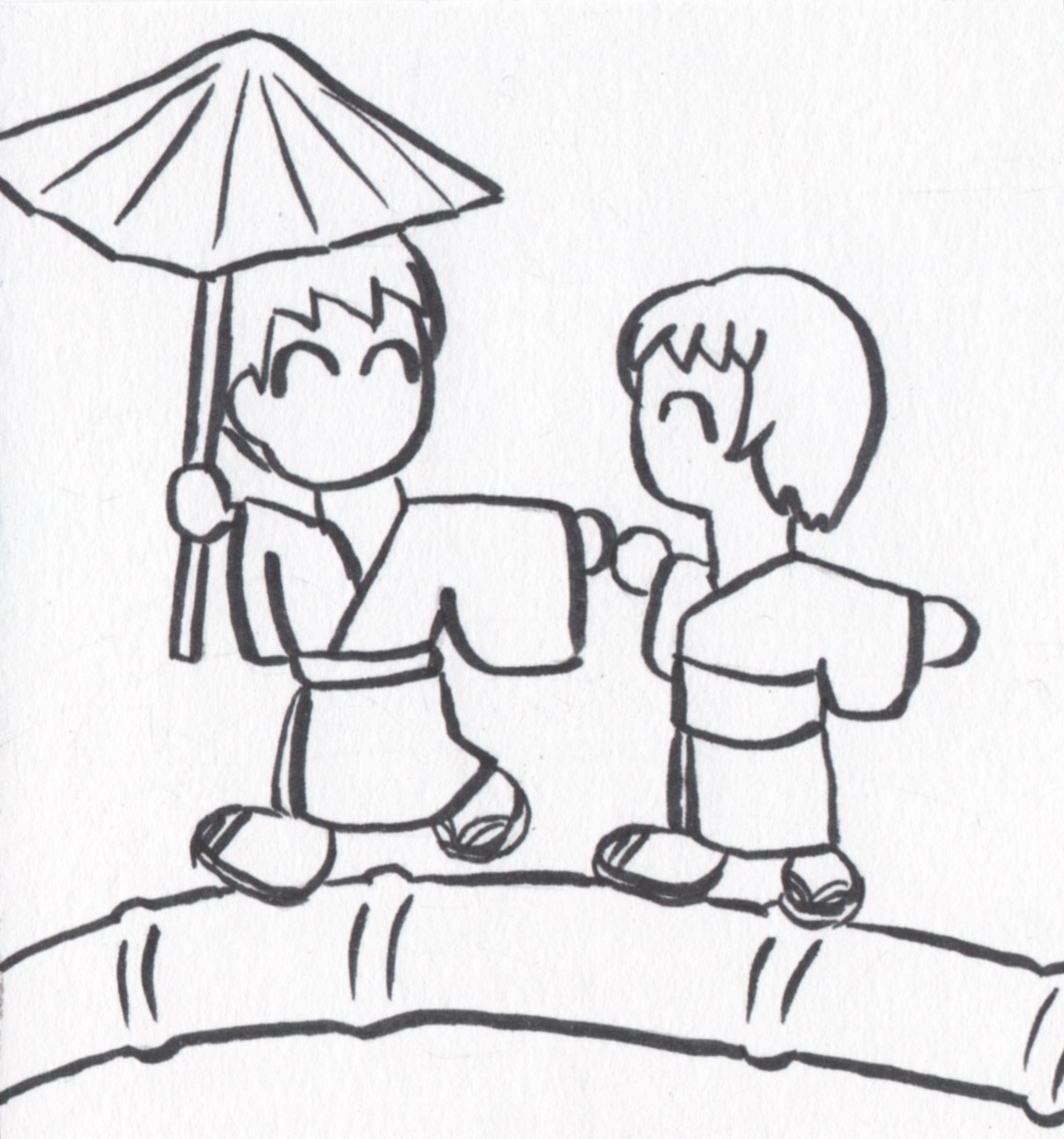竹の一本橋