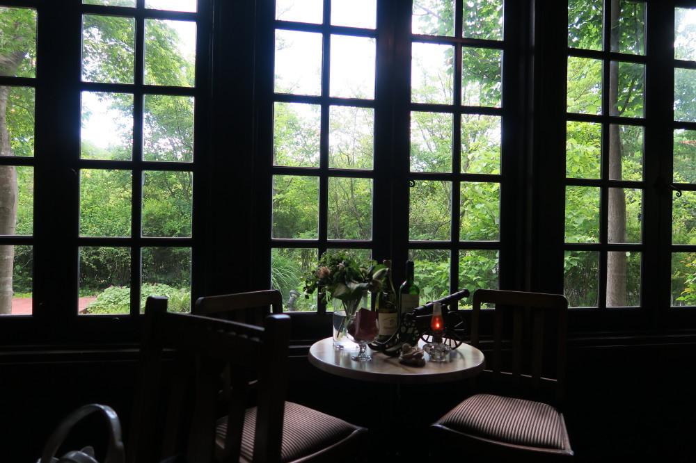 窓からの庭