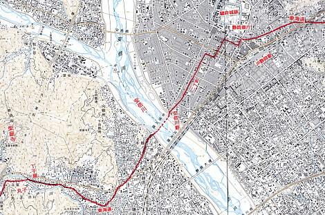 安倍川付近地図l