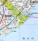 大井川河口付近地図
