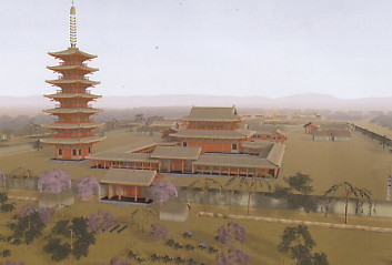 遠江国分寺復元図CG