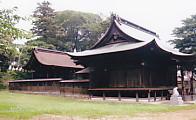 見付淡海國玉神社拝殿本殿