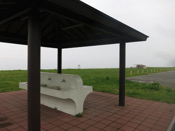 高岡オートキャンプ場 炊事場からの風景