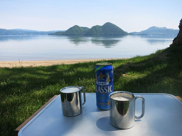 洞爺湖 曙公園 乾杯