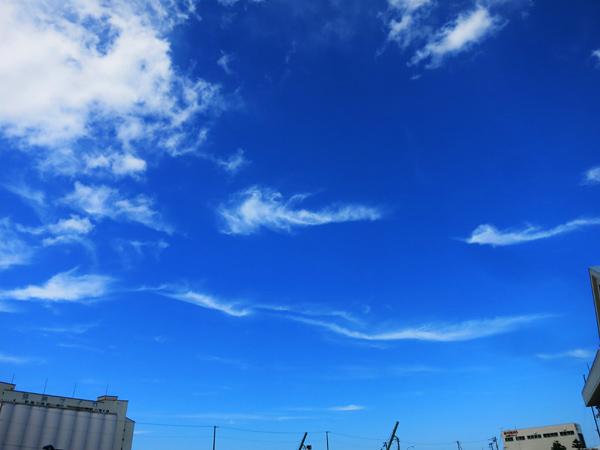 小樽 白蛇のような雲