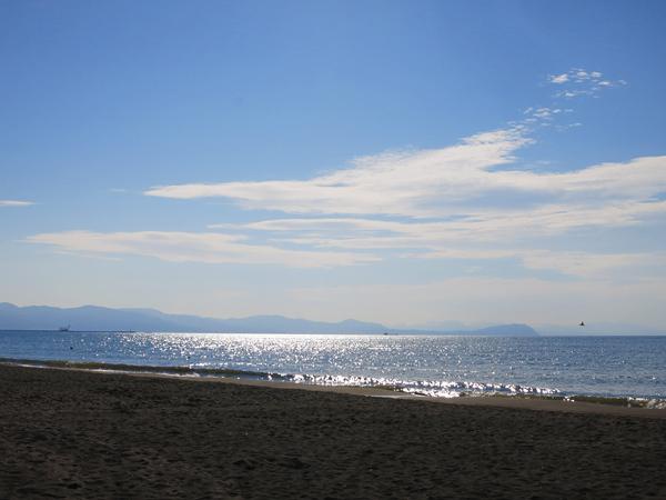 あそびーち石狩 午後の海 キラキラ