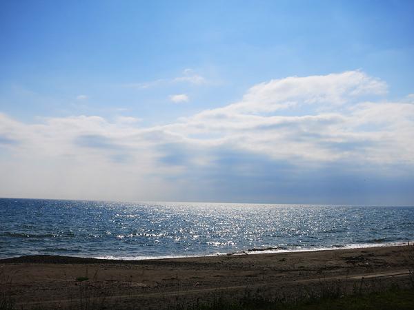 高岡オートキャンプ場  キラキラした海の午後