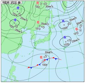 5月23日(火)6時の実況天気図