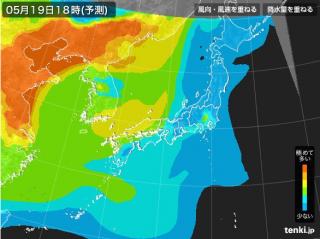 PM2.5分布予測(5月20日9時)