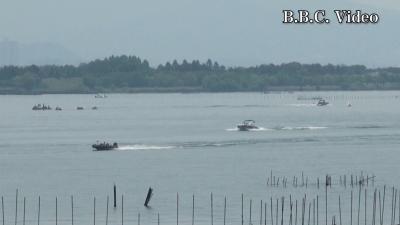琵琶湖南湖木浜沖のウエイクサーフィン大会(YouTubeムービー)