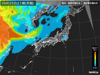 PM2.5分布予測(5月26日9時)