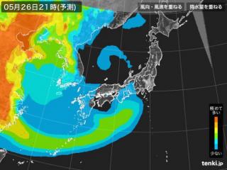 PM2.5分布予測(5月27日9時)