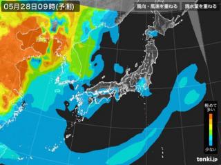 PM2.5分布予測(5月28日9時)