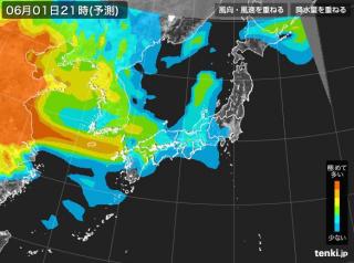 PM2.5分布予測(6月2日9時)