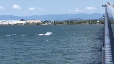 バスボート爆走!! 爆風の琵琶湖北湖(YouTubeムービー)