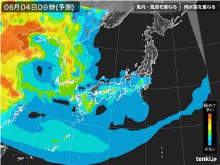 PM2.5分布予測(6月4日9時)