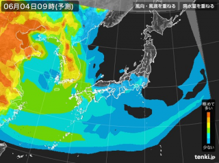 PM2.5分布予測(6月5日9時)