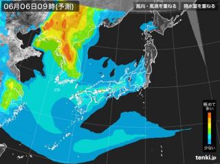 PM2.5分布予測(6月6日9時)