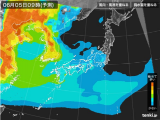 PM2.5分布予測(6月6日9時