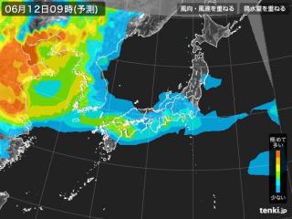 PM2.5分布予測(6月12日9時)
