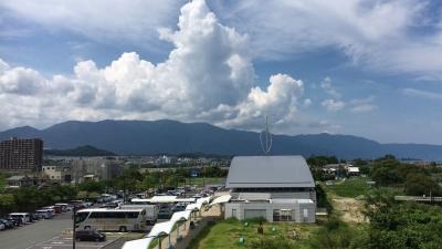 比良山の上に入道雲(7月22日14時頃)