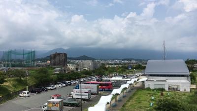 琵琶湖大橋西詰めから眺めた北湖(7月28日12時30分頃)