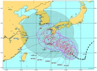 JTWC台風5号進路予想