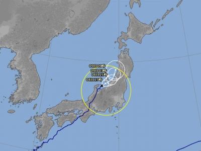 台風5号進路予想(8月8日10時現在)