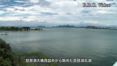 台風5号通過直後の琵琶湖(YouTubeムービー)