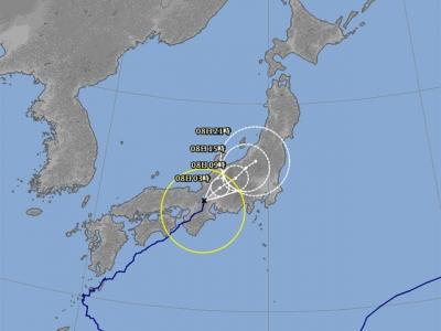 台風5号進路予想(8月7日21時現在)