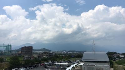 琵琶湖大橋西詰めから眺めた北湖(8月11日13時40分頃)