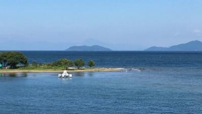 琵琶湖大橋西詰めから眺めた北湖(9月8日14時20分頃)