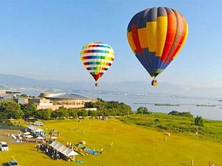 琵琶湖南湖烏丸半島の熱気球体験