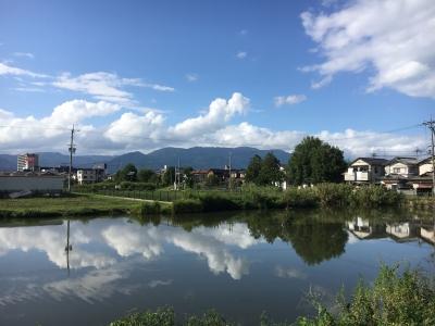 カヤ池から眺めた比良山 午後は秋晴れが戻りました(9月18日16時頃)