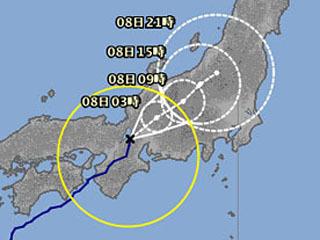 台風5号の進路
